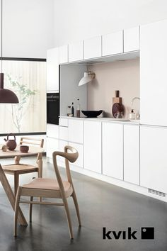 Hanging Canvas, Work Surface, Cuisines Design, Modern Kitchen Design, Dining Bench, Minimalist, Layout, Table, House