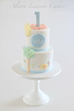 """Tweet Tweet!"" - by Alison Lawson Cakes @ CakesDecor.com - cake decorating website"