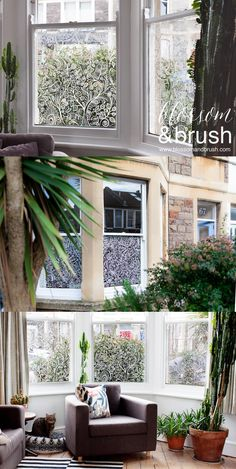 Bespoke decorative window film by @blossomandbrush