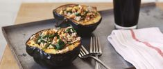 Healthy Recipes & Cooking Tips   Free People Blog. Roasted Acorn Squash Bowls With Barley Spinach Salad -- This blog has too many amazing looking recipes I want to try!