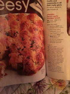 Garlic Monkey Bread, Ricotta, Cheddar, Mozzarella, Banana Bread, Mashed Potatoes, Nom Nom, Bacon, Butter