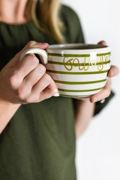 Snuggle up on the couch with a good book and enjoy a hot beverage in the God Is Great Mug. Great for sipping coffee or tea, but also the perfect size for enjoying a soup or chili leftovers! Coton Colors, Beverage, Good Books, Chili, Soup, Tea, Mugs, Coffee, Life
