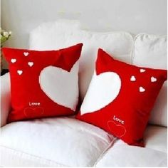 ed heart design decorative pillows for couch, the best wedding gift for your friend. Romantic heart sofa cushions for the living room, bedroom, your home will be full of love. Burlap Pillows, Cute Pillows, Sewing Pillows, Decorative Pillows, Throw Pillows, Cushion Cover Designs, Cushion Covers, Pillow Covers, Pillow Crafts
