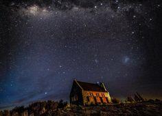 世界初の星空世界遺産?ニュージーランド「テカポ湖」の美しすぎる満点の星空 1枚目の画像