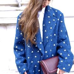 Dries Van Noten coat and clutch