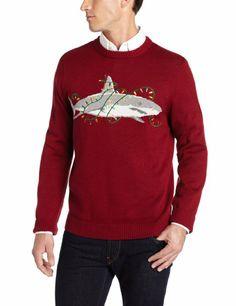 Amazon.com: Alex Stevens Men's Sharky Ugly Christmas Sweater: Clothing