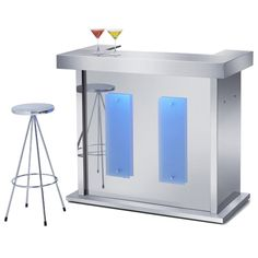Home Bar Glass Furniture Modern Set Unit Liquor Cabinet Mini Wine ...
