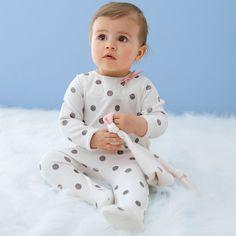 Pijama com pés em veludo e boneco R Baby | La Redoute