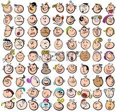 Iconos de expresi n Doodle Dibujos Foto de archivo