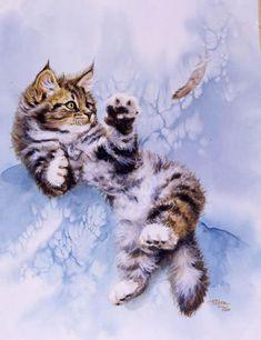 Belles images peintes /  Noel chats chiens