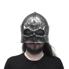 Fantasy style sinister sallet helmet for LARP, Cosplay, TV, Film and Theatre Larp Armor, Armor Concept, Armour, Darth Vader, Cosplay, Fantasy, Fictional Characters, Accessories, Outfits