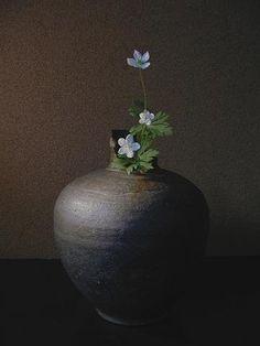 Ikebana by Atsushi, Japan Ikebana Flower Arrangement, Ikebana Arrangements, Flower Vases, Flower Art, Floral Arrangements, Cactus Flower, Japanese Flowers, Japanese Art, Wabi Sabi