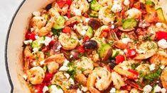 Best Shrimp 'n' Bacon Chowder Recipe-How To Make Shrimp 'n' Bacon Chowder—Delish.com Scampi Sauce, Bacon Chowder Recipe, Chowder Recipes, Tzatziki, Noodle Recipes, Shrimp Recipes, Shrimp Orzo, Greek Shrimp, Broccoli