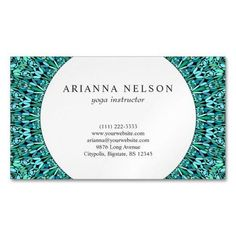 Shop Turquoise Flower Mandala Business Card Magnet created by ZyddArt. Elegant Business Cards, Business Card Size, Business Card Design, Hair Stylist Gifts, Hair Stylists, Print Templates, Card Templates, Magnetic Business Cards, Hairstylist Business Cards