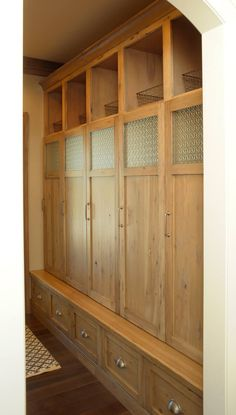 Knotty Hickory Mud Room - Mullet Cabinet
