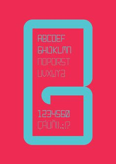 gansbaai typography by babuino , via Behance