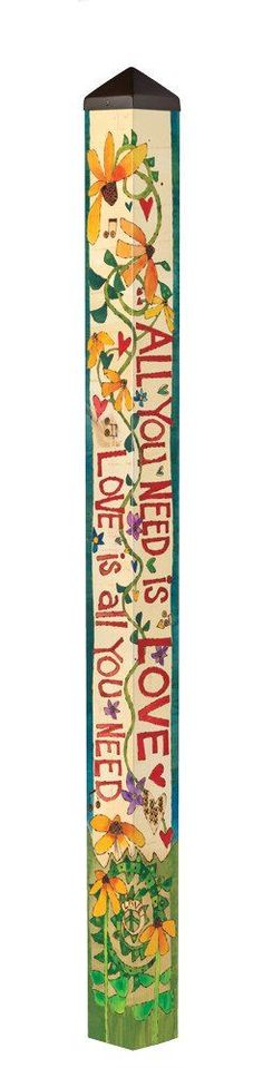 """All You Need Is Love Art Pole - 6 Foot <span style=""""color:red""""><br>($205 without shipping)</span>"""