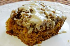 You will flip for the fall flavors in this lovely Crock-Pot Pumpkin Coffee Cake. Moist & tender pumpkin coffee cake is topped with a lovely maple icing.