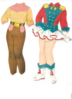"""""""Polly, Molly, & Their Dolls: Molly"""" (except they have no dolls!) The clothes lace on. These dolls are very large (almost 15 inches high).1958 (11 of 16)"""