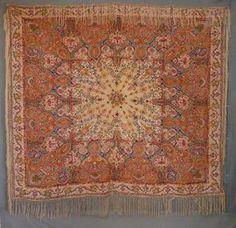 silk paisley shawls | Paisley Shawl - Block Printed Silk Crepe with Fringe. India. ... | Sh ...