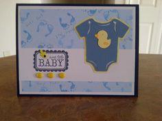 Baby Boy card, using Cricut cartridge LIFES A PARTY