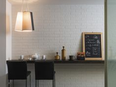 Subtle but stylish - we love these Battersea Dover white brick effect tiles Brick Effect Tiles, Brick Look Tile, Brick Tiles, Brick Wall, Tiles London, London Brick, Upper East Side, Guides De Style, Dover White