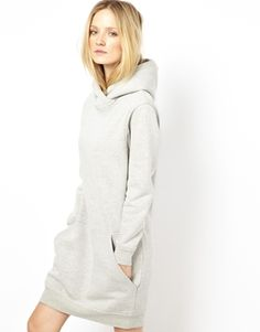 Selected Biggi Sweat Dress with Hood  I would LIVE in this!!