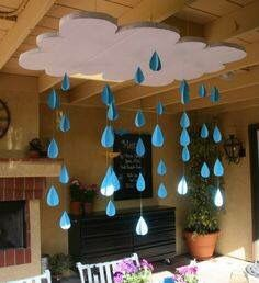 For the classroom: when learning about clouds and precipitation …. or water cycle … science water rain spring theme For the classroom: when learning about clouds and precipitation …. or water cycle … science water rain spring theme Classroom Setup, Classroom Design, Classroom Displays, Classroom Organization, Classroom Board, New School Year, Sunday School, Preschool Activities, Crafts For Kids
