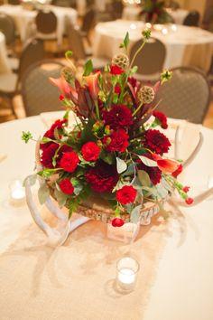 A Rustic Elegant Red Wedding | Casey Hendrickson Photography