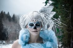 Hexe Gesicht bemalen - die Eiskönigin