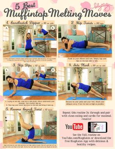 5 best moves to melt off your muffintop! 1. candlestick dipper 2. hip twists 3. hip dips 4. side plank 5. reverse crunch twist full length workout video here: https://www.youtube.com/watch?v=7pL3BesmaBM
