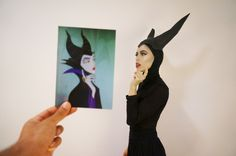 Superholly dressed up as The Original Maleficent