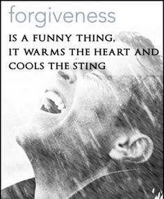 forgiveness cools the sting.