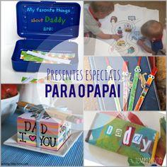 Ideias presente do dia dos pais. Ideias criativas de presente. Presente para os pais no blog!