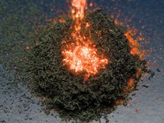 Ammonium dichromate | Chemistry World  But set light to it – surprisingly easy to do for a substance in crystalline form – and it spews out large quantities of feathery, dark green chromium oxide powder with a host of bright orange sparks and enough impressive force to give it the nickname 'Vesuvian fire.'