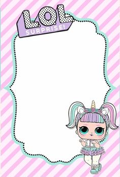 The centerpiece at this LOL Surprise Dolls birthday party i - Her Crochet Free Invitation Templates, Free Printable Birthday Invitations, Invitation Cards, Monster Birthday Parties, Birthday Party Themes, Unicorn Birthday, Unicorn Party, Lol Doll Cake, Doll Party
