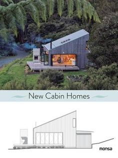 New cabin homes / Anna Minguet (ed. Hut House, Tiny House Cabin, Cabin Homes, Sustainable Architecture, Architecture Details, Modern Architecture, Pavilion Architecture, Residential Architecture, Cabin Design