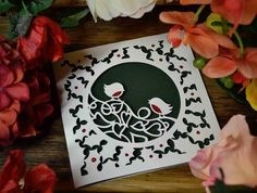 You will receive via email the template to cut your own robins card papercut and basic instructions. On page 2 there are templates for the leaf infills, red breasts and the inner card shape.For personal use ONLY. What does this mean