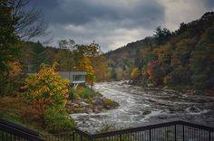 Laurel Highlands Falls Visitor Center in Ohiopyle State Park, Pennsylvania