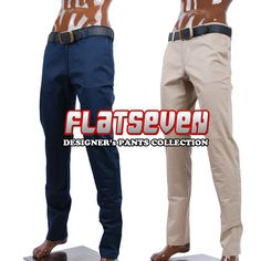 FLATSEVEN Mens Best Slim Pants and Jeans Collection Size M L XL 30 32 34 NWT #FLATSEVEN #ChinosJeansDenims