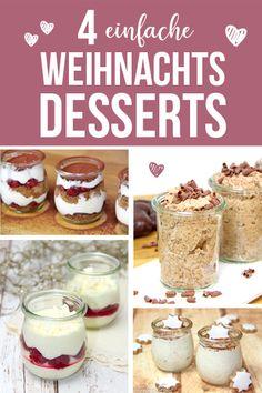 Christmas Desserts Easy, Fall Desserts, Simple Christmas, Healthy Desserts, Desserts Sains, Quick Dessert Recipes, Bon Dessert, Thermomix Desserts, Strawberry Desserts