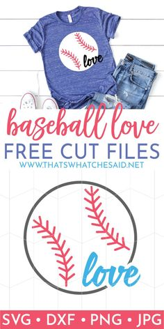 If you are a baseball lover you need this Baseball Love SVG file along with 14 more free baseball themed files from our monthly #totallyfreesvg blog hop! #freesvg #baseball
