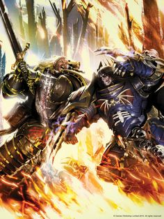 - Image dark_angels duel horus_heresy konrad_curze lion_el'jonson neil_roberts night_lords power_claws primarch sword_two-handed wallpaper Warhammer Fantasy, Warhammer 40k Art, Night Lords, Dark Angels 40k, Clash On, The Horus Heresy, Space Wolves, Game Workshop, Lion