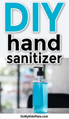 This easy DIY hand sanitizer is super easy to make at home and helps protect you from germs. Make this easy gel sanitizer for your family now