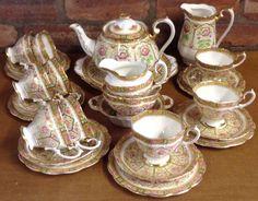 Royal Albert Court Pattern 34 Piece Tea Set in Pottery, Porcelain & Glass, Porcelain/ China, Royal Albert, Tableware | eBay