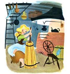 Illustration by Retta Scott (American, 1916-1990) for the 1950 Big Golden Book edition of Disney's 'Cinderella'. Cinderella Book, Walt Disney Cinderella, Disney Love, Disney Art, Disney Girls, Disney Illustration, Children's Book Illustration, Disney Concept Art, Little Golden Books