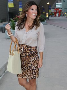 The skirt HAS TO BE different. No animal print. My god that's ugly. But the outfit is great!