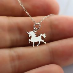 TINY UNICORN NECKLACE - 925 Sterling Silver - Fantasy Fairytale Jewelry NEW Girl #HelloCharms #Charm