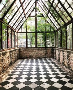 House - While lying in bed the other night dreaming all the things we're hoping for in the Orchard House, I told Seth I wanted a conservatory A… - Garden Decor Patio Interior, Interior And Exterior, Interior Design, Outdoor Rooms, Outdoor Living, Outdoor Bedroom, Dream Garden, Home And Garden, Greenhouse Plans