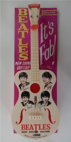 New Sound Guitar on Card--These guys were a marketing Bonanza!!! {GM}